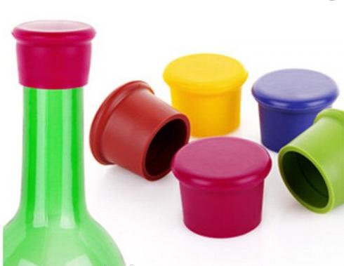 Пробка для бутылок силиконовый , цвета разные