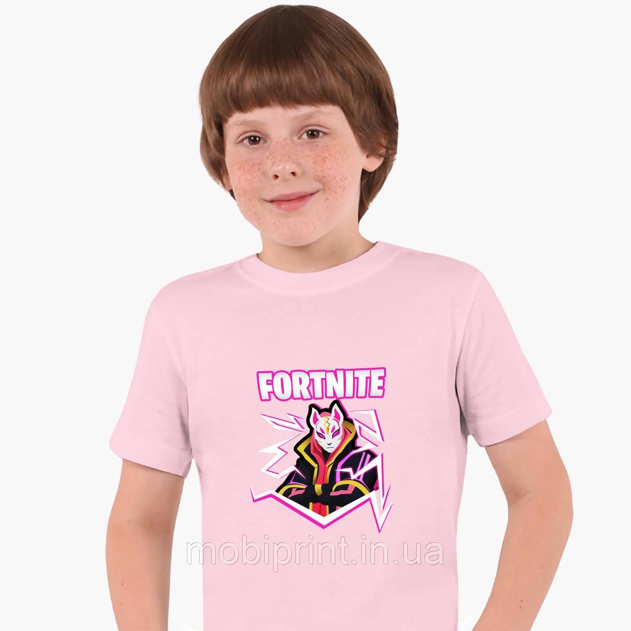 Детская футболка для мальчиков Фортнайт (Fortnite) (25186-1189) Розовый