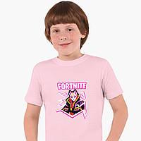 Детская футболка для мальчиков Фортнайт (Fortnite) (25186-1189) Розовый, фото 1