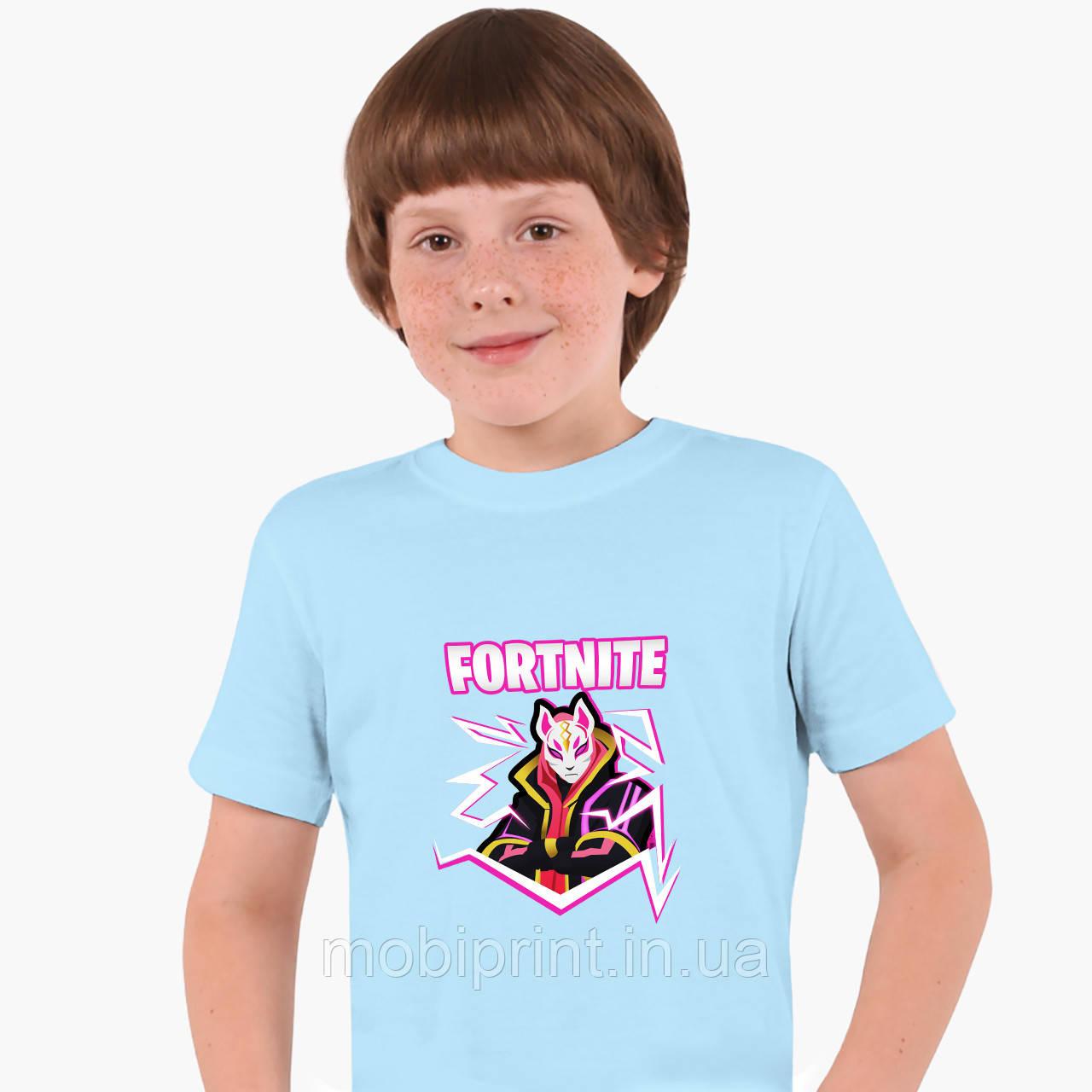Детская футболка для мальчиков Фортнайт (Fortnite) (25186-1189) Голубой