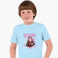 Детская футболка для мальчиков Фортнайт (Fortnite) (25186-1189) Голубой, фото 1