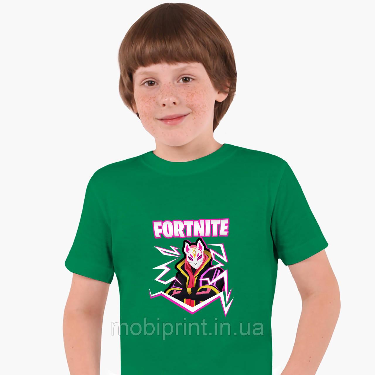 Детская футболка для мальчиков Фортнайт (Fortnite) (25186-1189) Зеленый
