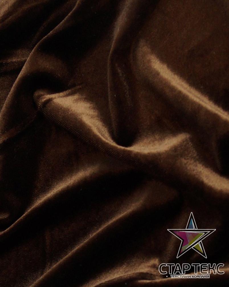 Бархат (Оксамит) стрейч шоколад