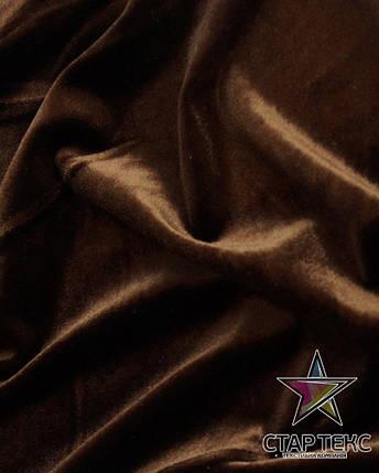 Бархат (Оксамит) стрейч шоколад, фото 2