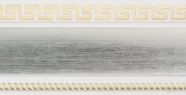 Декоративная лента на потолочный карниз КСМ (70 мм) Бленда Меандр 3 Сатин