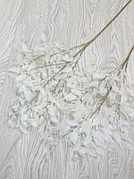 Искусственная ветка для декора. Ветка в напольную вазу ( белая 105 см )