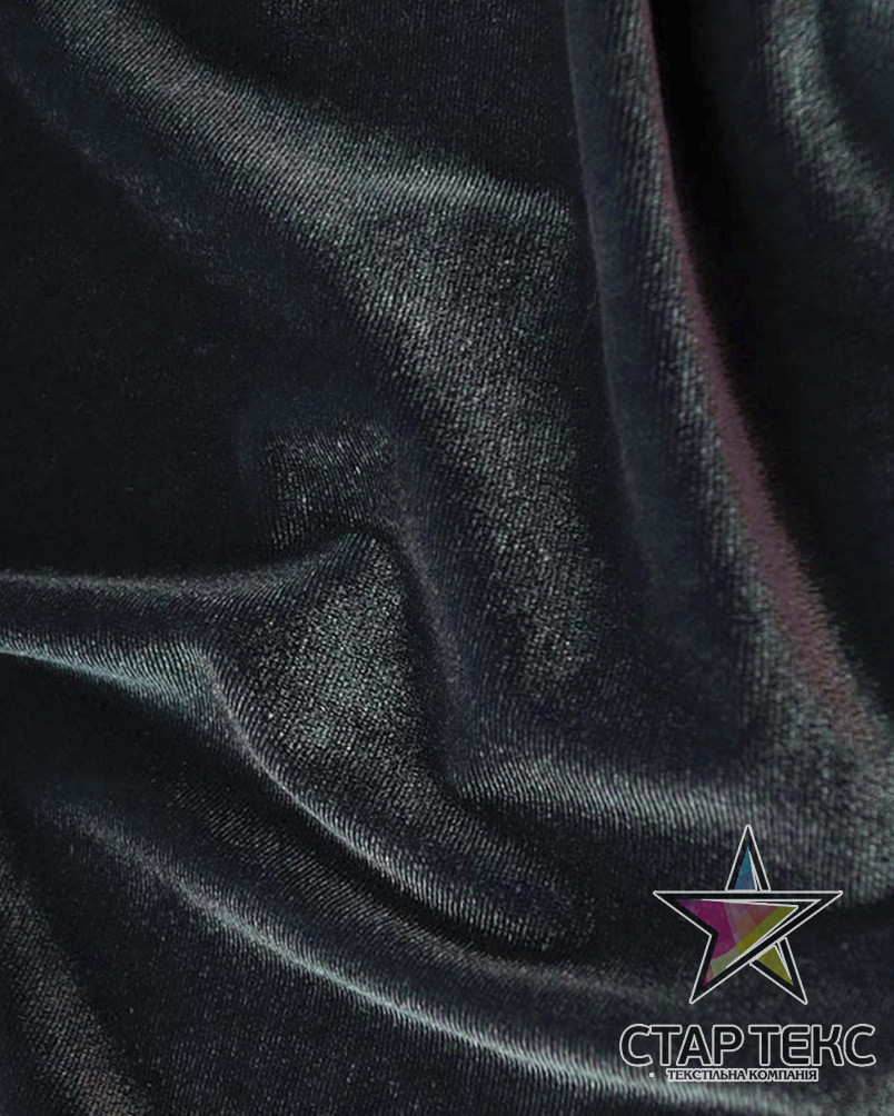 Бархат (Оксамит) стрейч серый