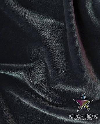 Бархат (Оксамит) стрейч серый, фото 2