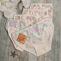 Трусики для девочки в цветок.Турция. Nicoletta 116314. Размер 9-10 лет. В упаковке 5 шт.