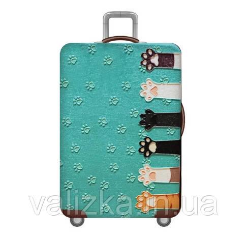 Чохол для середнього валізи з принтом котячі лапки