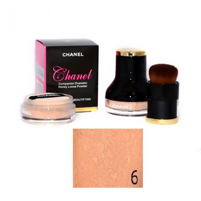 Пудра рассыпчатая Chanel + кисть ( тон № 6 )