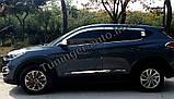 Дефлекторы окон, ветровики хромированные Hyundai Tucson 2015-2020 (Autoclover D623), фото 6