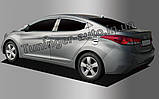 Хром накладка на лючек бензобака Hyundai Elantra MD 2010-2015 (Autoclover B375), фото 2