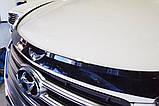 Дефлектор капоту (мухобійка) Hyundai Santa Fe 2012-2017 (Autoclover D543), фото 2
