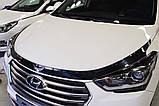 Дефлектор капоту (мухобійка) Hyundai Santa Fe 2012-2017 (Autoclover D543), фото 3