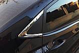 Хром молдинг стекла (уголок) Hyundai Accent 2010-2016 (Autoclover B918), фото 7