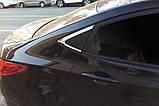 Хром молдинг стекла (уголок) Hyundai Accent 2010-2016 (Autoclover B918), фото 8