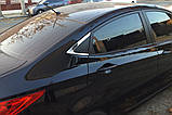 Хром молдинг стекла (уголок) Hyundai Accent 2010-2016 (Autoclover B918), фото 9