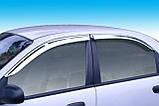 Дефлекторы окон хромированные (ветровики) Daewoo Lanos 1996-2012 (Autoclover A459), фото 2