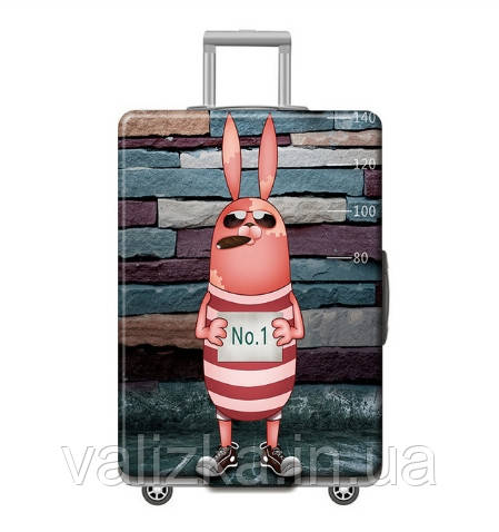 Чехол для большого чемодана с принтом заяц