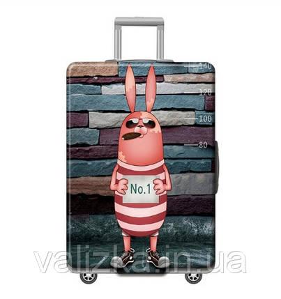 Чехол для большого чемодана с принтом заяц, фото 2