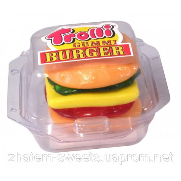 Жевательные конфеты Макси Бургер Trolli Burger Maxi 12шт х 50гр - Бутик  сладостей