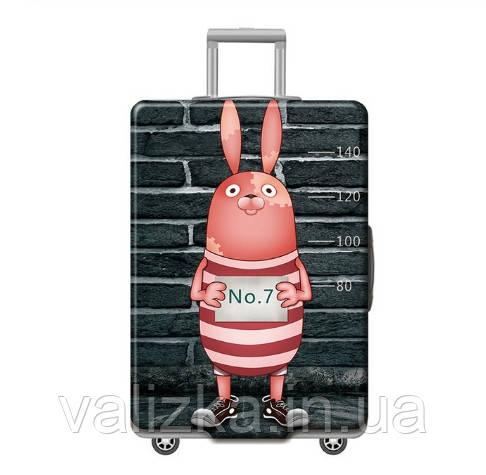 Чехол для большого чемодана с принтом заяц№2