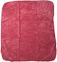 Детское полотенце с уголком после купания 80х90 махровое с капюшоном малиновое для новорожденных малышей девочке Ю750, фото 3