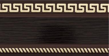 Декоративная лента на потолочный карниз КСМ (70 мм) Бленда Меандр 3 Венге
