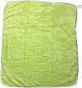 Рушник з куточком після купання для новонароджених малюків 80х90 хлопчику дівчинці з капюшоном махра салатовий, фото 3