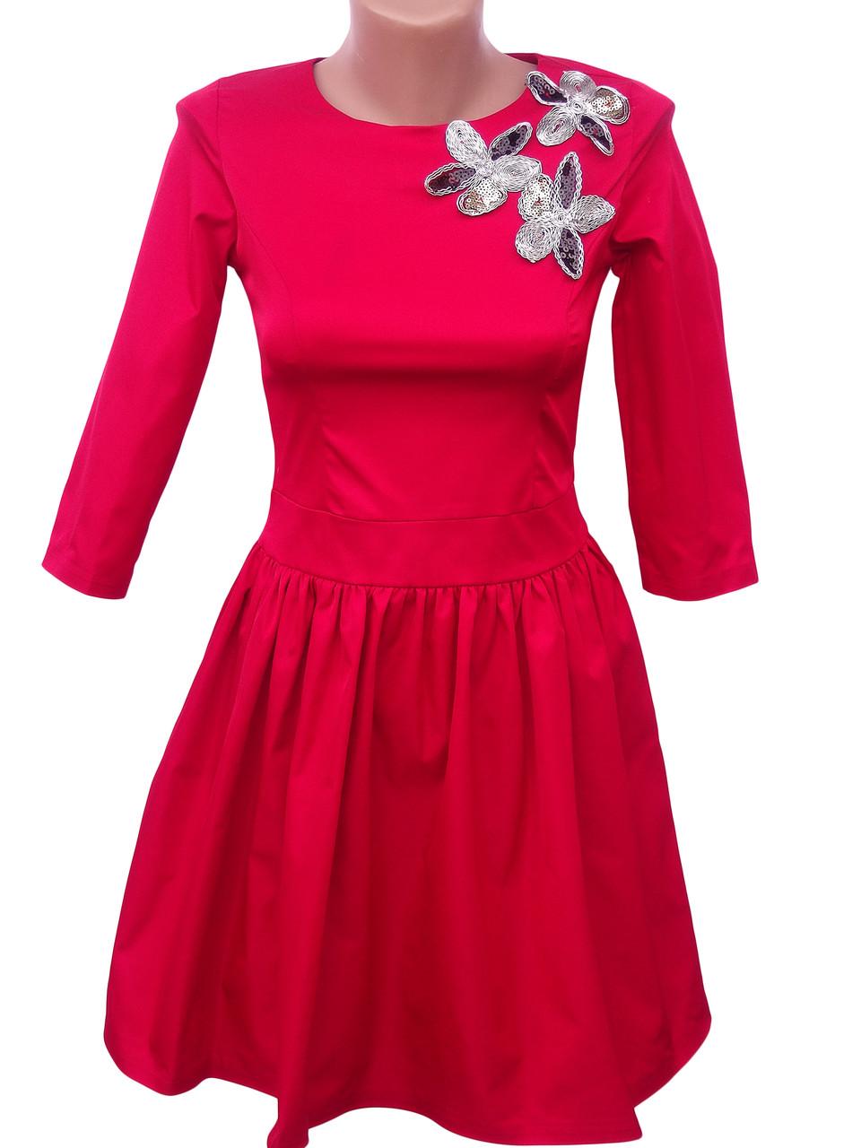 Нарядное женское платье (в расцветках 40-44)