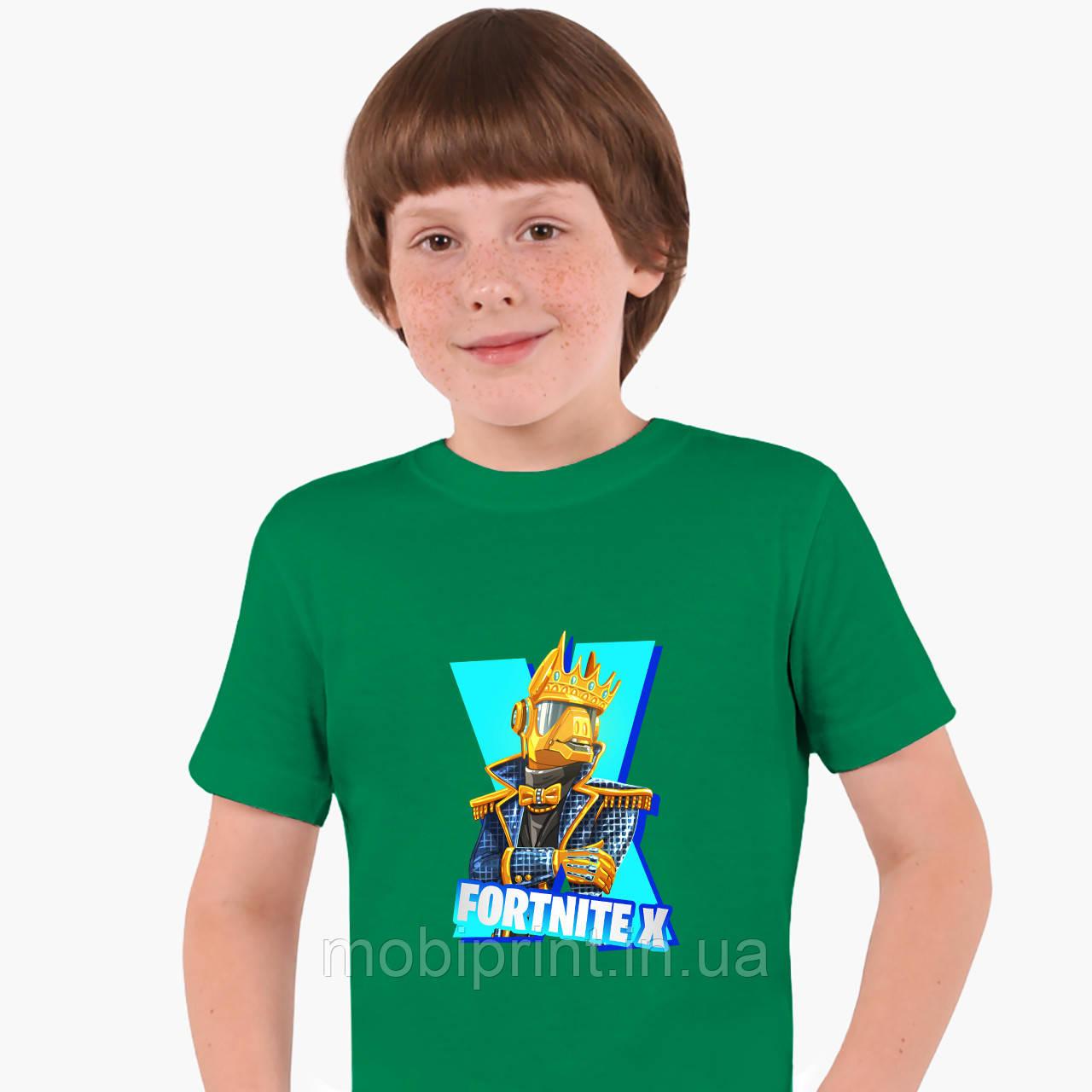 Детская футболка для мальчиков Фортнайт (Fortnite) (25186-1196) Зеленый