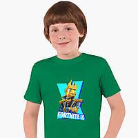 Детская футболка для мальчиков Фортнайт (Fortnite) (25186-1196) Зеленый, фото 1