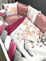"""Захист в дитяче ліжечко , бортики в кроватку , бортики в ліжечко """"Зайка Любов"""""""
