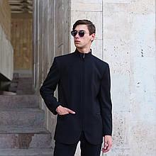 Пиджак черный мужской бренд ТУР модель  Вектор (Vector) размер: S, M, L, XL