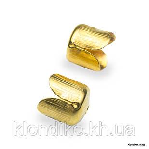 Конус Шапочки для Бусин, Железные, 6.5×7 мм, отв. 1 мм, Цвет: Золото (50 шт.)