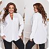 Жіноча сорочка подовжена з розрізами великого розміру, з 48-66 розмір