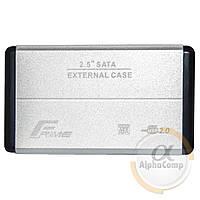 "Внешний карман HDD/SSD 2.5"" USB 2.0 Frime Metal Silver (FHE21.25U20)"