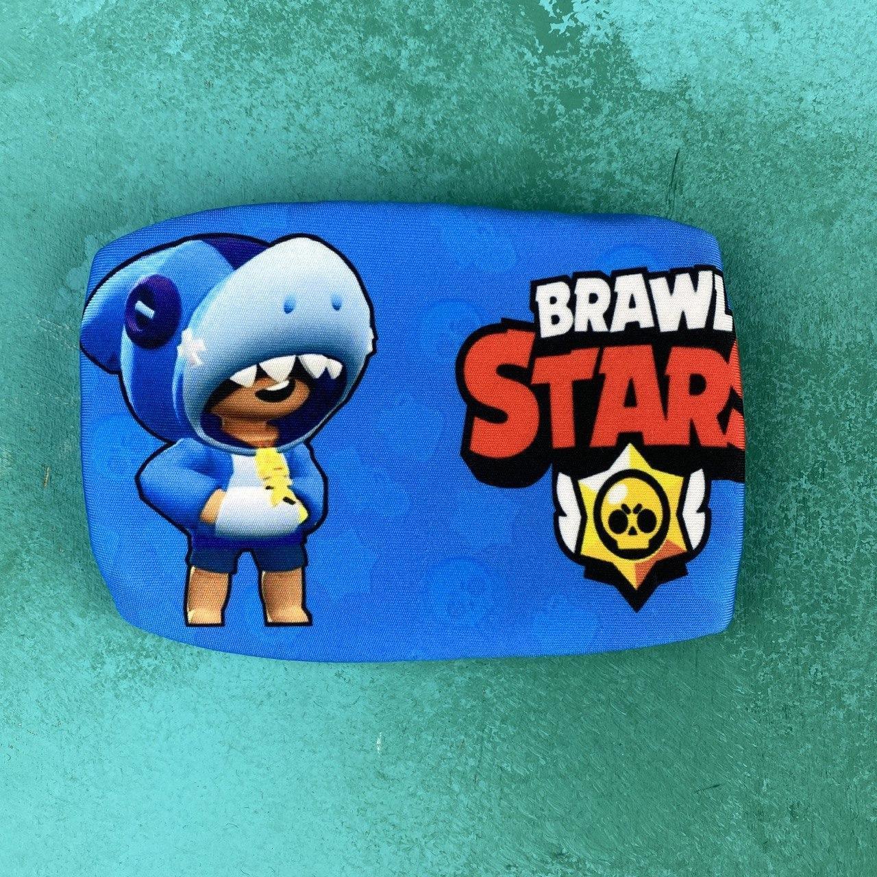 Детская маска brawl stars с леоном