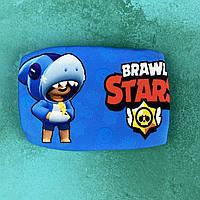 Детская маска brawl stars с леоном, фото 1