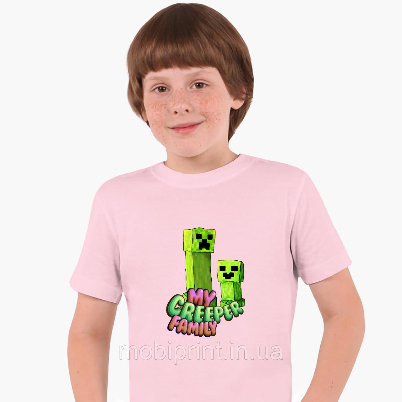 Детская футболка для мальчиков Майнкрафт (Minecraft) (25186-1176) Розовый