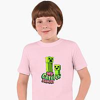 Детская футболка для мальчиков Майнкрафт (Minecraft) (25186-1176) Розовый, фото 1