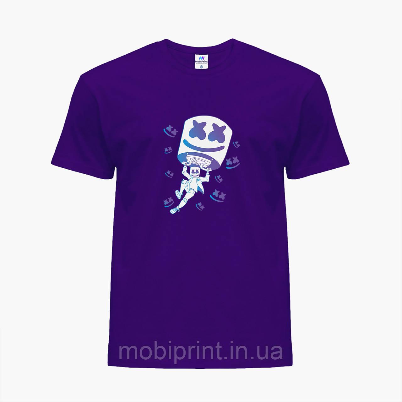 Детская футболка для мальчиков Маршмелло Фортнайт (Marshmello Fortnite) (25186-1329) Фиолетовый