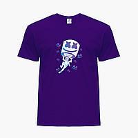 Детская футболка для мальчиков Маршмелло Фортнайт (Marshmello Fortnite) (25186-1329) Фиолетовый, фото 1