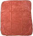 Дитячий рушник з куточком після купання 80х90 махровий з капюшоном теракотове для новонароджених малюків, фото 3