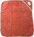 Дитячий рушник з куточком після купання 80х90 махровий з капюшоном теракотове для новонароджених малюків, фото 2