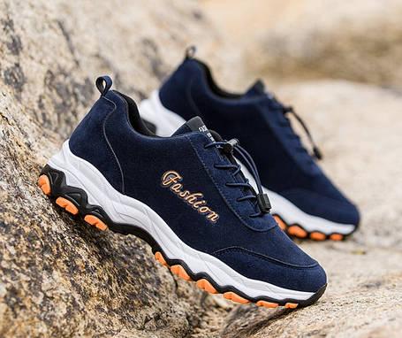 Стильні замшеві чоловічі кросівки на осінь 44р, фото 2