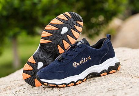 Стильные замшевые мужские кроссовки на осень 44р, фото 2