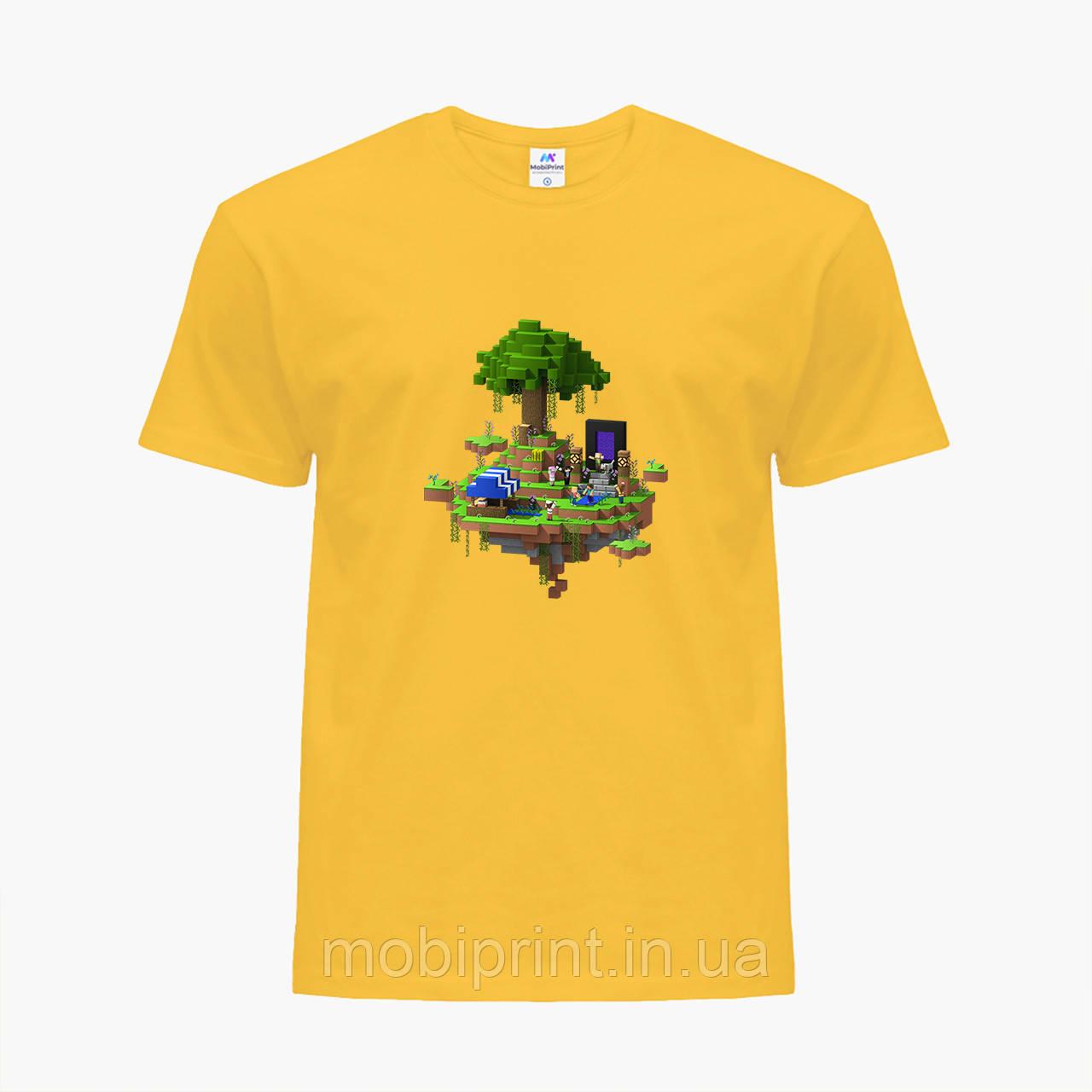 Детская футболка для мальчиков Майнкрафт (Minecraft) (25186-1177) Желтый