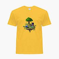 Детская футболка для мальчиков Майнкрафт (Minecraft) (25186-1177) Желтый, фото 1